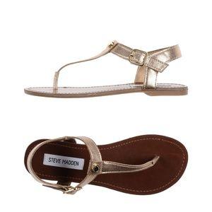 BRAND NEW Gold Steve Madden Sandals
